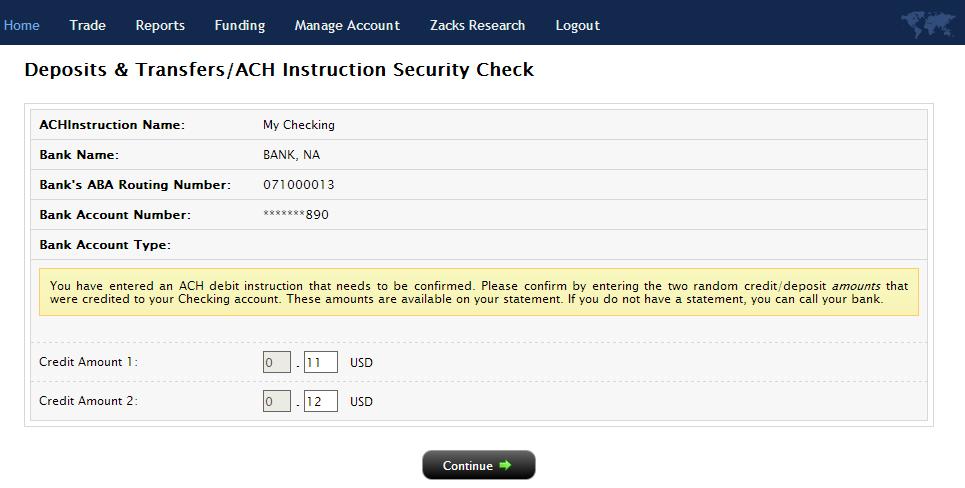 How To Verify An Ach Link Via Test Deposits Zackstrade